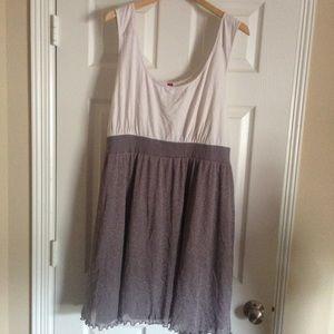Pure Energy Silver Sparkle Skirt T-Shirt Dress 4x