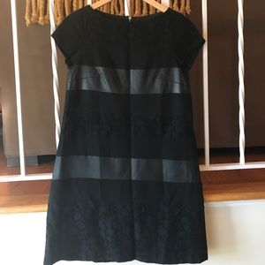 Ali Ro Little Black Dress with leather and lace, 0