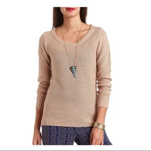 Sweaters - Knit pullover taupe sweater