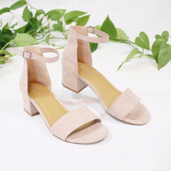bcf8f5169b26 Strappy Blush Pink Low Heel Sandals Open Toe 7.5. M 59dd218678b31ce0e501e503