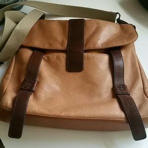 Cynthia Rowley Messenger Bag Tan & Brown