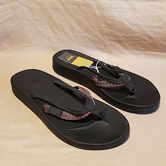 b43a96cb3f55 Teva azure black multi color 2 strap sandals 5