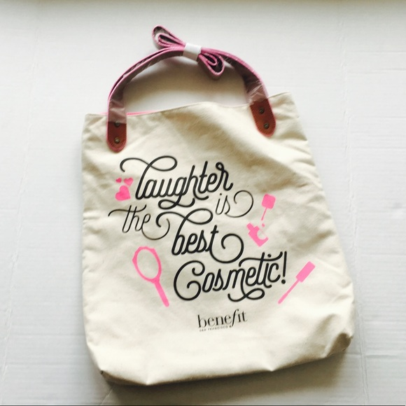 Benefit Handbags - NEW!  Benefit Cosmetics Canvas Tote