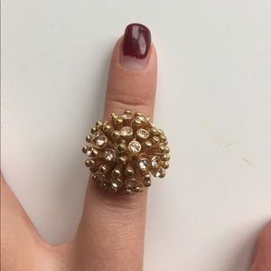 Jcrew gold bauble ring