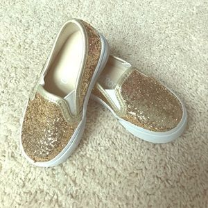 Gold Sparkle Sneakers size 5