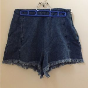 Women's high-wasted denim shorts by Zara (size M)