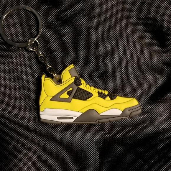 ce96f3ab31c Air Jordan Accessories | Jordan 4 Retro Lightning Shoe Keychain ...