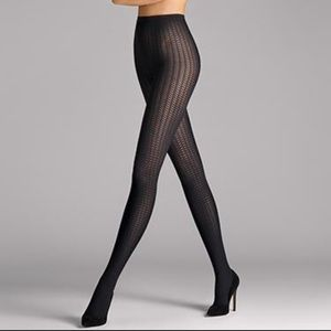 🆕 WOLFORD Alba Striped & Ribbed Tights in Black
