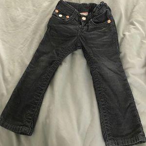 Black/blue jeans