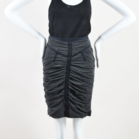 bf1d9971ed00f5 Dolce & Gabbana Skirts | Dg Ruched Jerseyfront Zipback Pencil Skirt ...