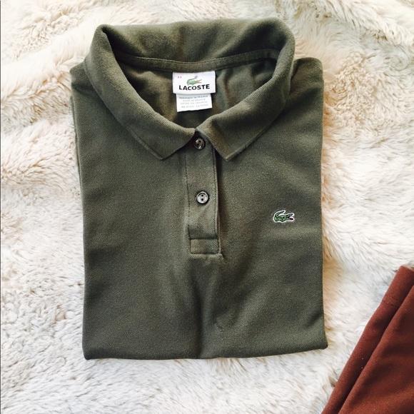pretty nice d3901 11a4f Moss Green Lacoste Polo