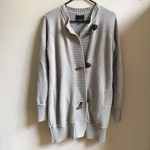 Cynthia Rowley Sweater Coat Toggle Buttons