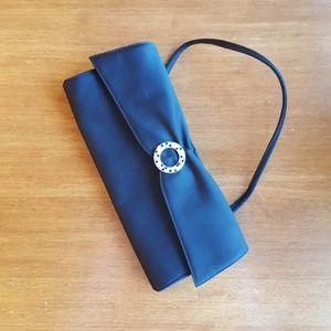 Rodo black satin evening bag
