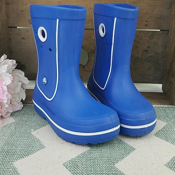 11 10 Crocs Bump It Rain BootsToddler Boys Blue size 9