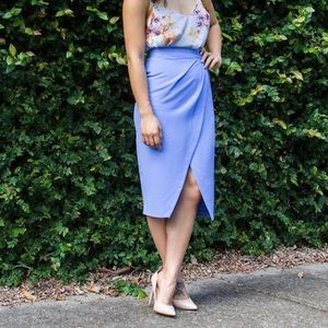 Asos Purple Tulip Midi Skirt