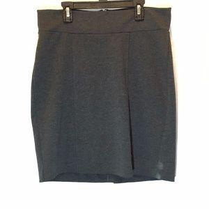 Gap Maternity Sz 4 Pencil Skirt Career Gray 77% Po