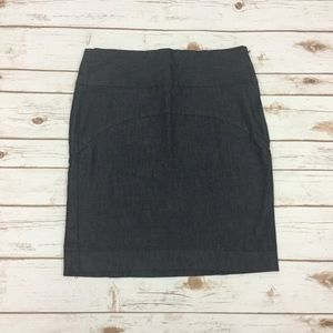 Gap Dark Denim Straight Skirt Size 8