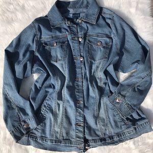 Vintage long denim jacket size 18/20