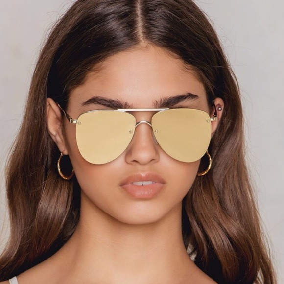 0f85a78f498 le specs Accessories - Gold Le Specs Prince Rimless Aviator