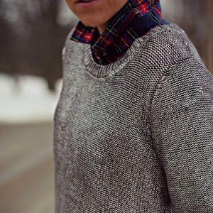 Rock & Republic Silver Foil Sweater