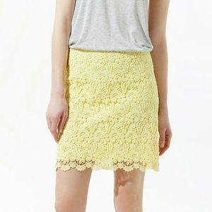 Zara Lace Skirt Yellow