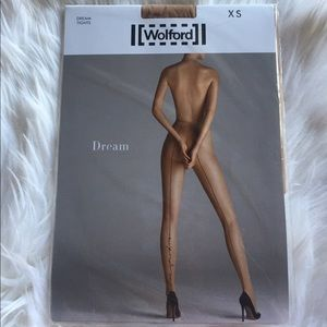 Wolford nude tights. Xs