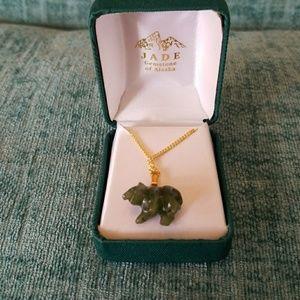 Jade Bear necklace