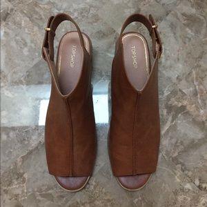 Topshop peep toe sling back shoes sandals Size 11