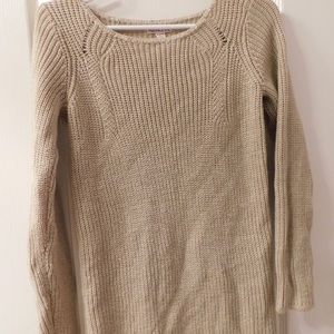 Sweaters - beige over-sized sweater