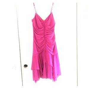 ABS By Allen Schwartz Fuchsia Pink Dress