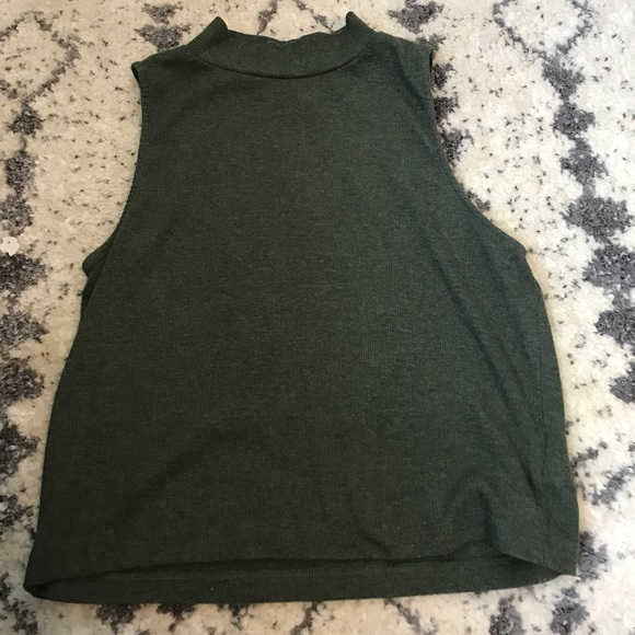 3fd6272e266468 H M Tops - Army Green ribbed H M ...