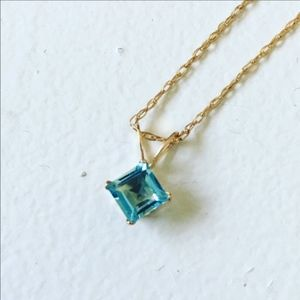 Jewelry - NEW 10K Gold Filled Blue Topaz Necklace