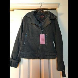 Gray jacket ...