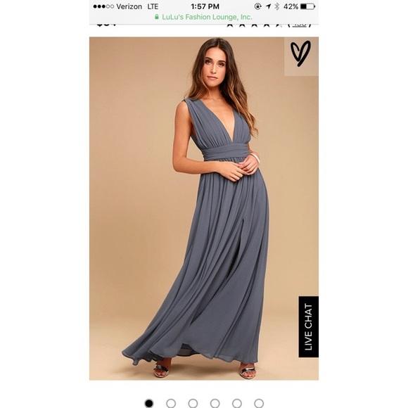 9306edd870 Lulu s Dresses   Skirts - Lulu s Heavenly Hues Denim Blue maxi dress