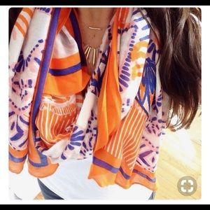 Stella & Dot Union Square scarf Tangerine.