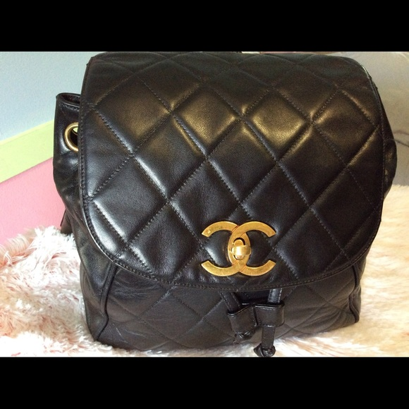 CHANEL Handbags - Chanel Vintage Lambskin Quilted Backpack 6e40fb9993233