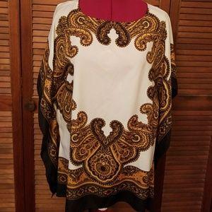 Michael Kors flutter scarf top