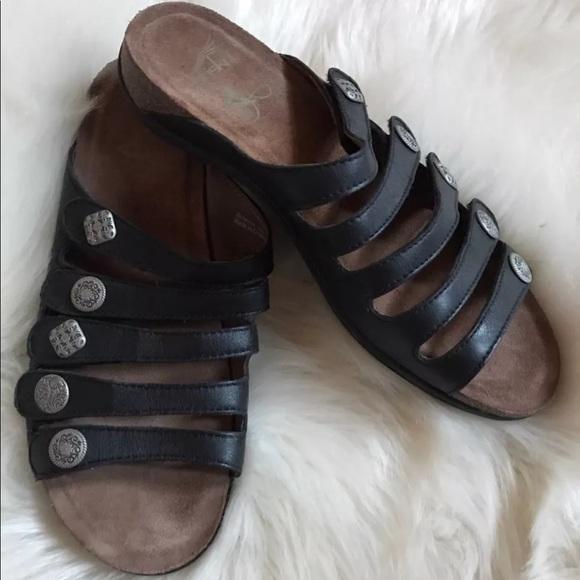 7f7b43c7fbc2 Dansko Shoes | Slip On Comfort Cork Bottom Black Sandals | Poshmark