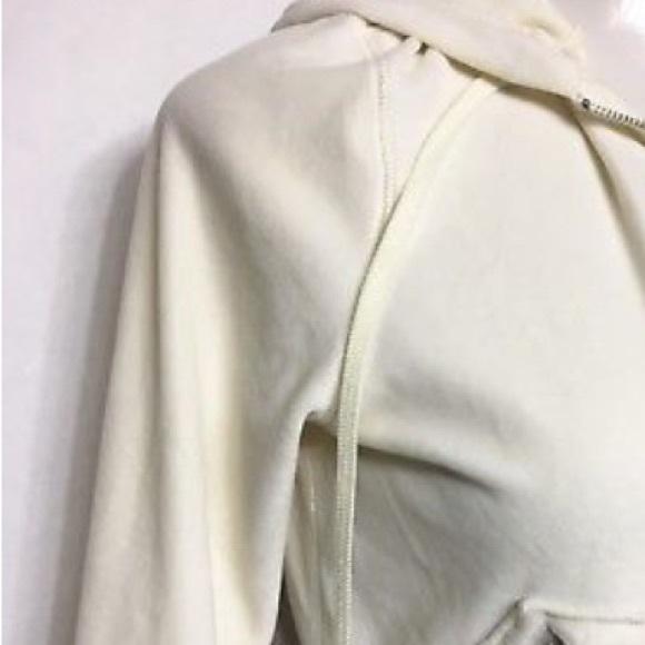 Banana Republic Tops - BANANA REPUBLIC Womens Ivory Cotton Hoodie Size M