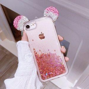 iPhone Mickey Ear Glitter Case