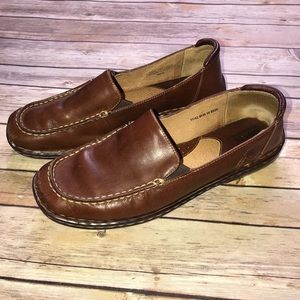 Born Brown Leather Loafer Slip On Shoes