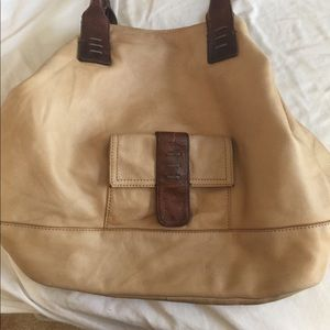 XL all leather tote bag