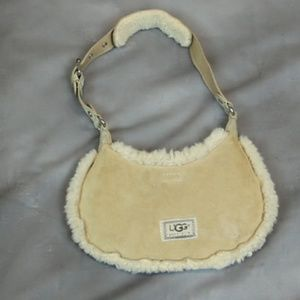 UGG Australia mini shearling purse bag