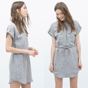 45853b025c Zara Dresses - Zara Marl Linen Shirt Dress