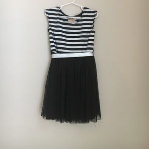 Other - Stripe tulle dress with bow