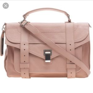 Proenza Schouler PS1 medium lux bare pink nwt$1780