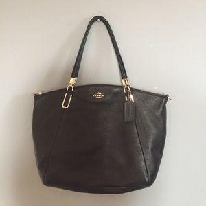 Coach leather tote shoulder bag