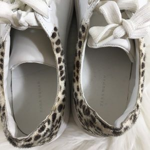 6d5b19f08fee Zara Shoes | White Leopard Print Platform Sneakers | Poshmark