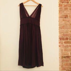 Gorgeous Wine Colored Silk Chiffon Dress