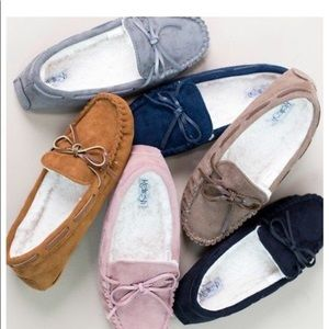 Shoes - Cozy Moccasin Slip-On Shearling Slippers
